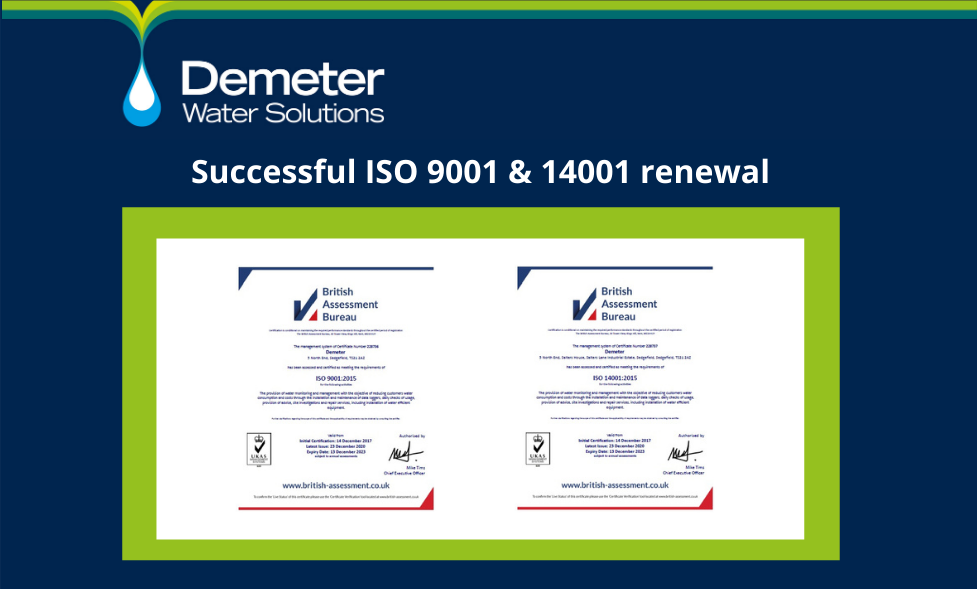 ISO success for water saving experts